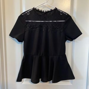 Black and lace blouse
